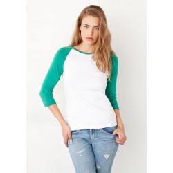 3/4 Sleeve Contrast Raglan T-Shirt 2000